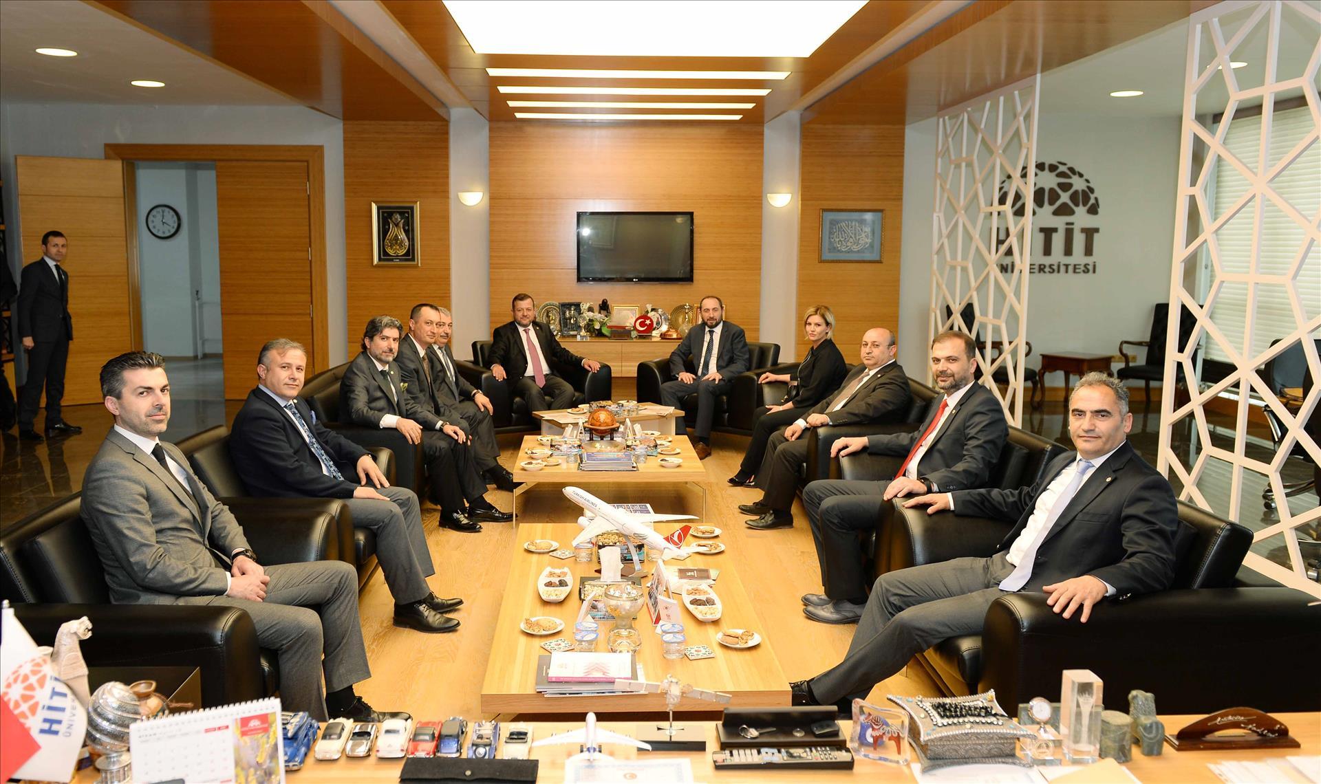 ÇTSO Yönetim Kurulu Başkanı Başaranhıncal Rektörümüzü Ziyaret Etti