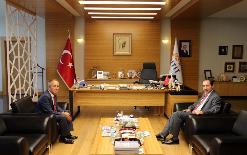 Türkiye İş Kurumu (İŞKUR) Çorum İl Müdürü Ayvaz'dan Rektörümüze Veda Ziyareti