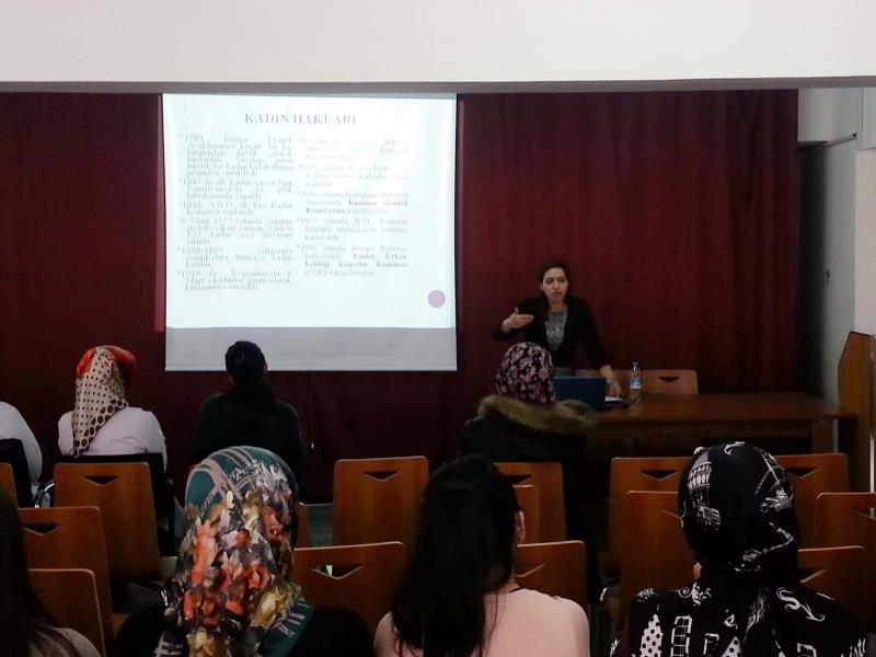 Kadın ve Aile Sorunları Uygulama ve Araştırma Merkezi Etkinliklerine Devam Ediyor