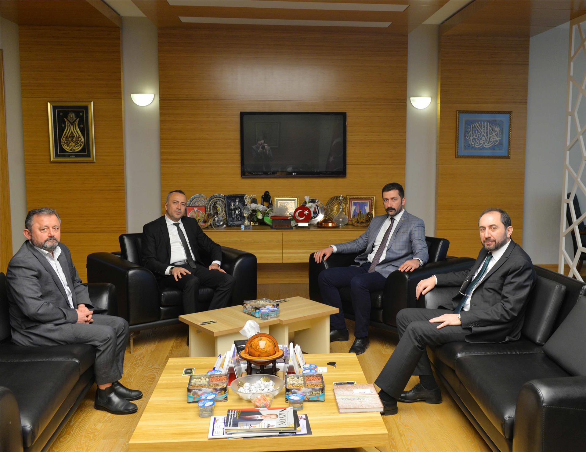 MHP İl Başkanı Mehmet Akif Aras'tan Rektörümüze Ziyaret