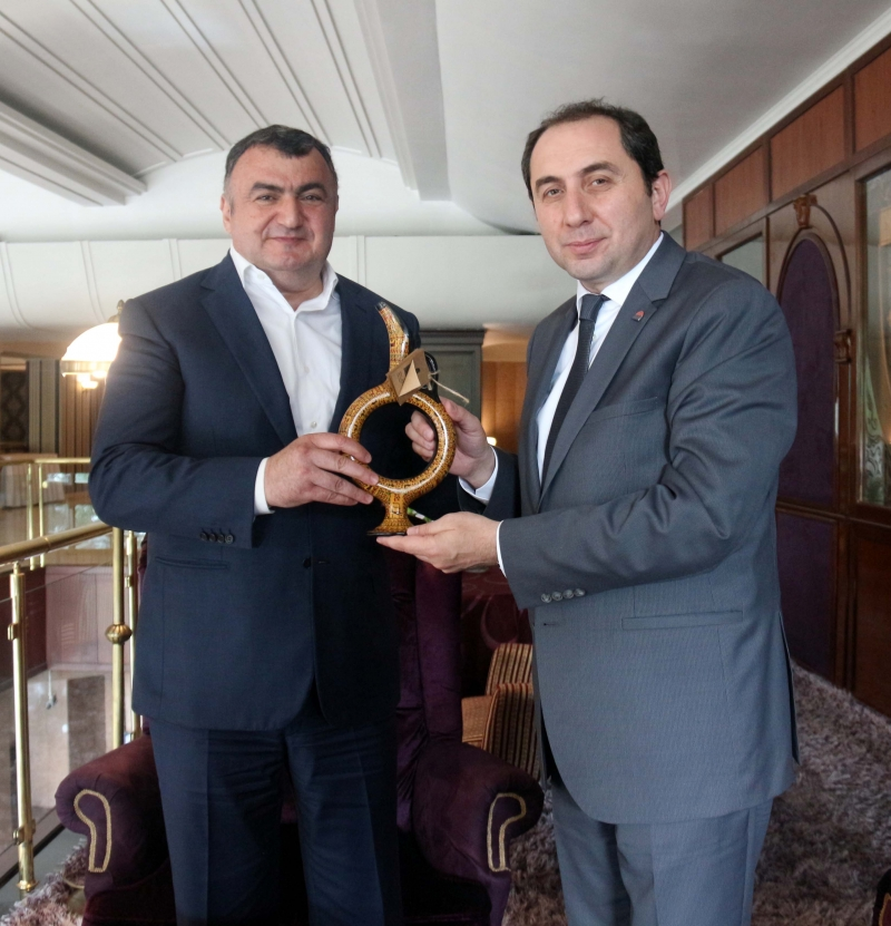 Rektörümüzden Dünya Ahıska Türkleri Birliği Genel Başkanına Ziyaret