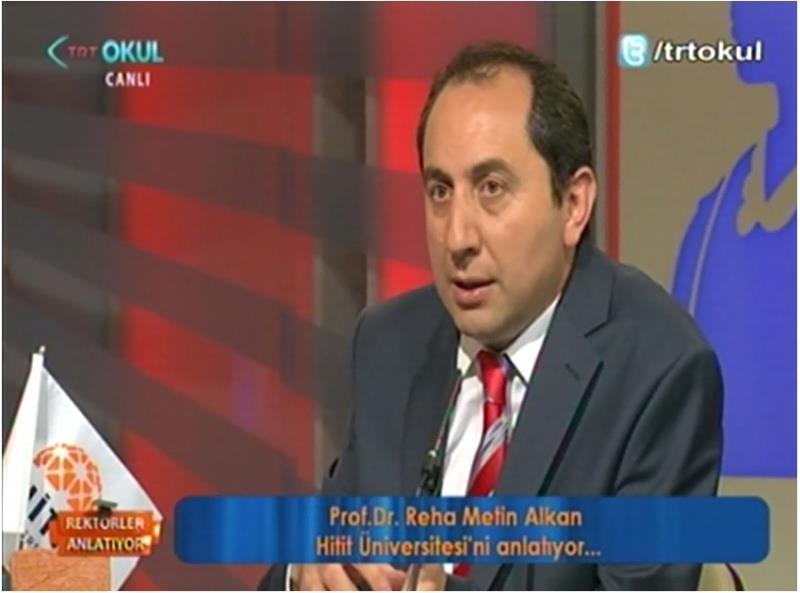 """Rektörümüz TRT OKUL'da Yayınlanan """"Rektörler Anlatıyor"""" Programına Konuk Oldu"""