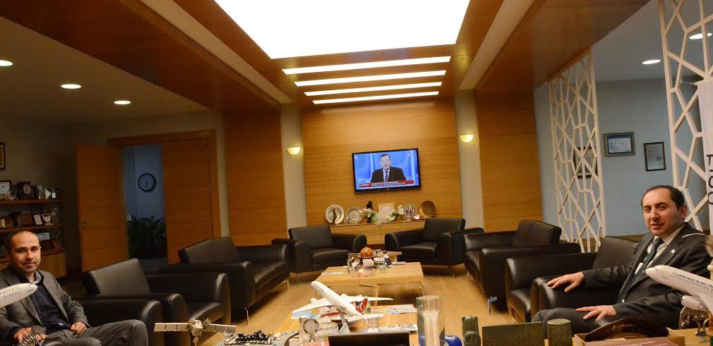 İl Halk Sağlığı Müdürü Dr. Ahmet Barış Rektörümüzü Ziyaret Etti