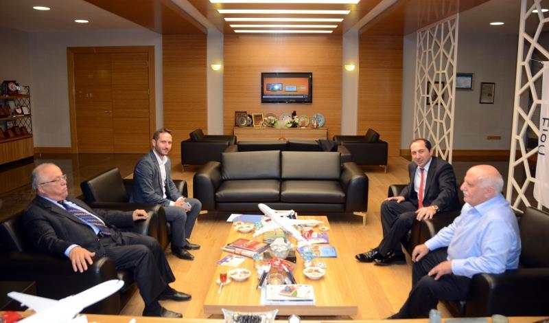 Feyzullah Kıyıklık ve Prof. Dr. Halis Ayhan Rektörümüzü Ziyaret Etti