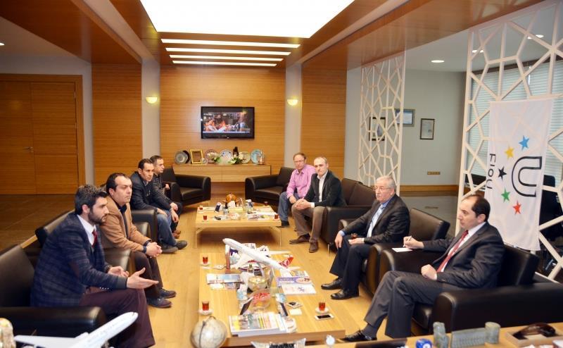 Zafer Çarşısı Yönetim Kurulu Üyeleri Rektörümüzü Ziyaret Etti
