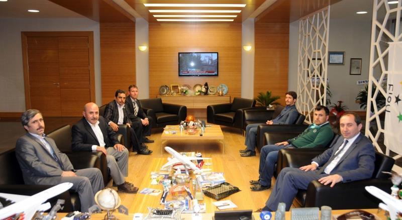 Anadolu Gençlik Derneği Yönetim Kurulu Üyeleri Rektörümüzü Ziyaret Etti