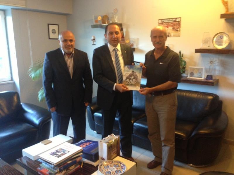Rektörümüz TÜSF Başkanı Prof. Dr. Kemal Tamer'i Ziyaret Etti