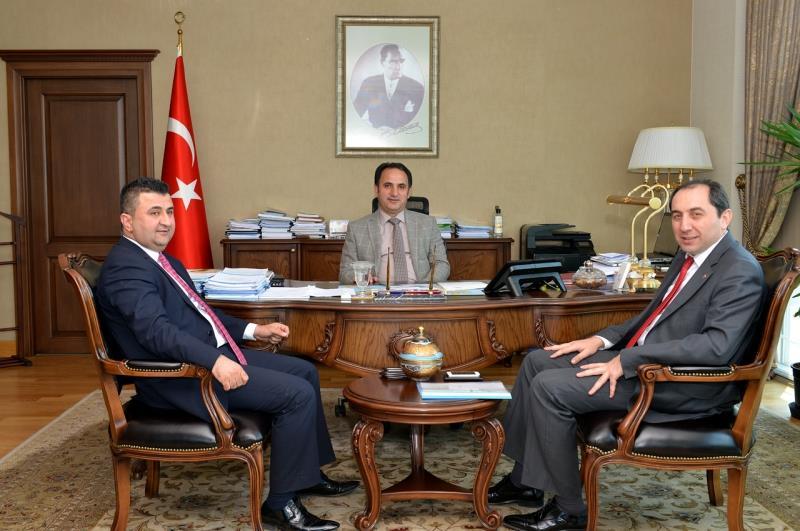 Rektörümüz Yurtdışı Türkler ve Akraba Topluluklar Başkanı Doç. Dr. Bülbül'ü Ziyaret Etti