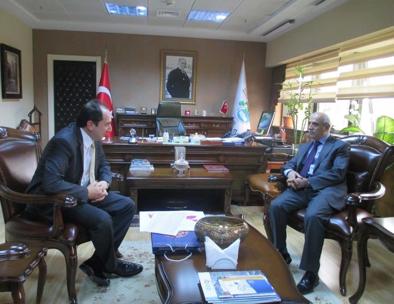 Rektörümüz Orman ve Su İşleri Bakanlığı Müsteşarı Prof. Dr. Lütfi Akça' yı Ziyaret Etti