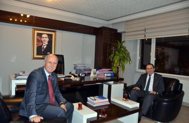 Rektörümüzden TÜSF Başkanı Prof. Dr. Kemal Tamer'e Ziyaret