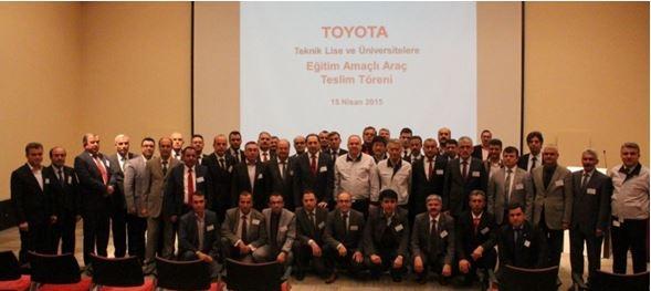 Toyota'dan Üniversitemize Destek