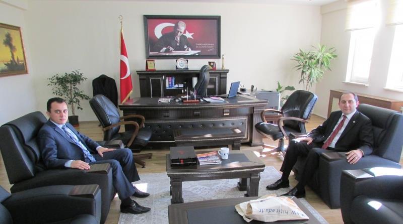 Rektörümüzden İdare Mahkemesi Başkanı Tahsin Yılmaz'a Ziyaret