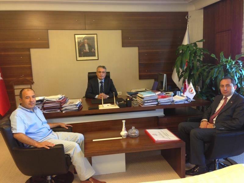 Rektörümüz, T.C.  Kalkınma Bakanlığı Müsteşarı Kemal Madenoğlu'nu Ziyaret Etti