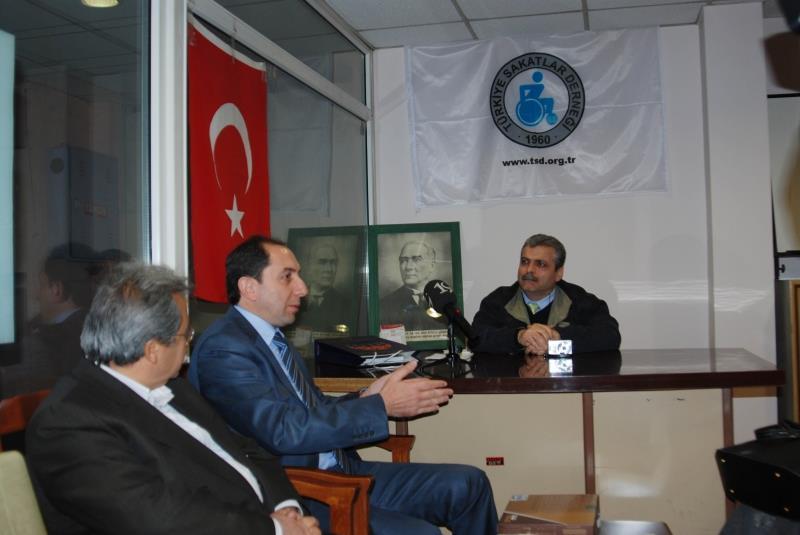 Rektörümüz Türkiye Sakatlar Derneği Çorum Şubesini Ziyaret Etti