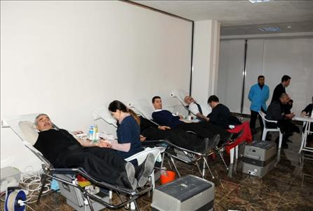 Blood Donate to Turkish Red Crescent by Our University Staff