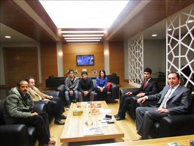 Gazeteci Yazar Bülent AKYÜREK ve Belediye Başkan Yardımcısı Turan CANDAN'dan Rektörümüze Ziyaret