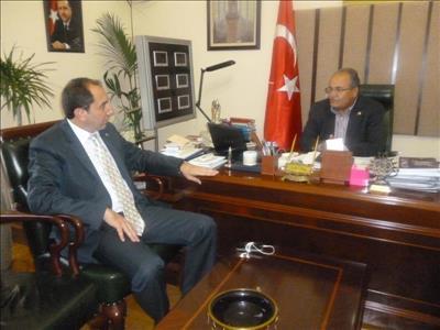 Rektör Alkan Çorum Milletvekili Salim Uslu'yu Ziyaret Etti