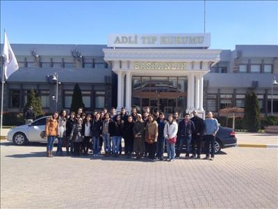Kimya Mühendisliği Öğrencilerimiz Adli Tıp Kurumu'na Teknik Gezi Düzenledi