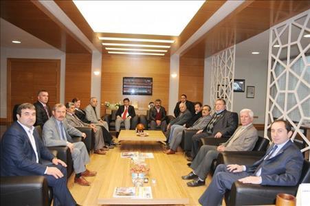 ÇESOB Başkanı ve Oda Başkanlarından Rektörümüze Ziyaret