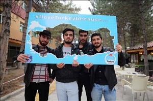 """""""I Love Turkey Because…"""" Proje Ekibinden Rektörümüze Ziyaret"""