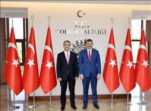Rektörümüz Prof. Dr. Öztürk'den Çorum Valisi Sayın Çiftçi'ye Ziyaret