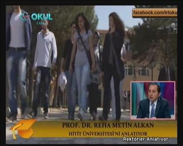 Rektör Prof. Dr. ALKAN TRT OKUL'da
