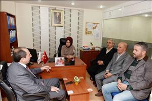 Rektörümüz Türkiye Kızılay Derneği Çorum Şubesine Ziyarette Bulundu