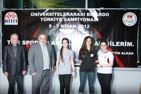 Üniversitelerarası Bilardo Türkiye Şampiyonası Tamamlandı