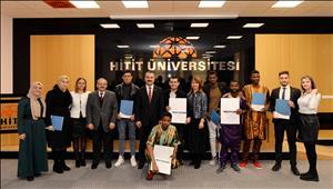 HİTÜ-TÖMER'de Türkçe Kursu Sertifika Heyecanı Yaşandı