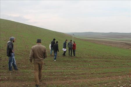 Öğrencilerimizden Alaca Koçhisar Arazi Toplulaştırma ve Tarla İçi Geliştirme Proje Sahasına Teknik