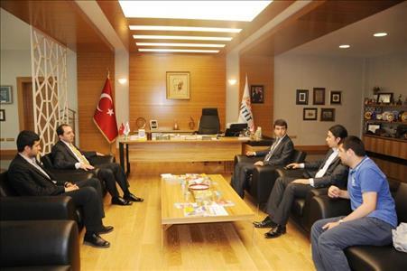 Türkiye Öğrenci Konseyi Başkanı Rektörümüzü Ziyaret Etti