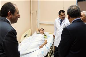 Rektörümüz Prof. Dr. Alkan'dan Geçmiş Olsun Ziyareti