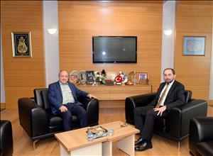 AK Parti İl Başkanı Av. Karadağ Rektörümüzü Ziyaret Etti