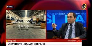 """Rektörümüz TV 19'da Yayınlanan """"Murat Erdoğan'la Bakış Açısı"""" Programının Konuğu Oldu"""