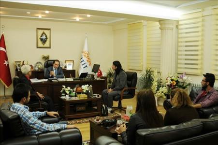 Genç İletişimciler Kulübü'nden Rektörümüz Prof.Dr. ALKAN'a Ziyaret