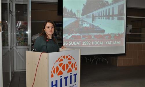 Hocalı Katliamı Osmancık Ömer Derindere Meslek Yüksekokulunda Anıldı