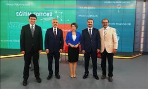 """Rektörümüz, TRT Haber'de Yayınlanan """"Eğitim Editörü"""" Programının Konuğu Oldu"""