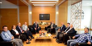 Türkiye Üniversite Sporları Federasyonu (TÜSF) Başkanı Tamer'den Rektörümüze Ziyaret
