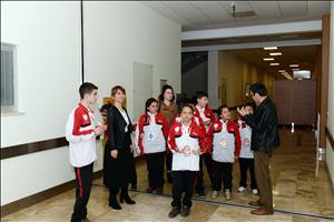 Gazipaşa Ortaokulu Özel Eğitim Sınıfı Rektörümüzü Ziyaret Etti