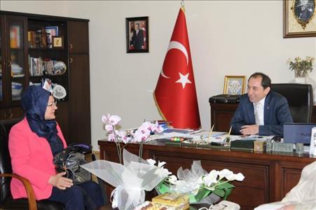 Ümit MERİÇ, Üniversitemiz Rektörü Prof. Dr. Reha Metin ALKAN'ı Ziyaret Etti