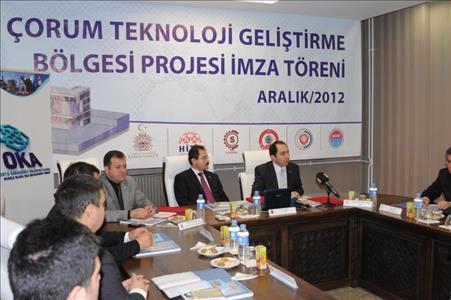 Çorum Technology Development Area Project Signing Ceremony