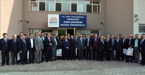 Osmancık Ömer Derindere Meslek Yüksekokulu'nda Devir Teslim Töreni Gerçekleştirildi