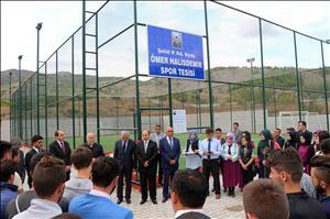 Osmancık Ömer Derindere MYO Spor Tesisine Şehit Ömer Halisdemir'in Adı Verildi