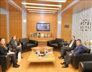 Azerbaycan Büyükelçiliğinden Rektörümüze Ziyaret