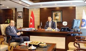 Rektörümüz KYK Genel Müdürü Sinan Aksu'yu Ziyaret Etti