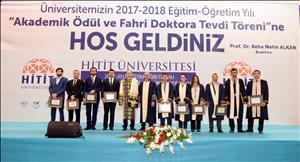 """2017-2018 Akademik Yılı """"Akademik Ödül ve Fahri Doktora Tevdi Töreni"""" Yapıldı"""