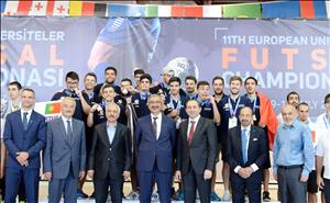 11. Avrupa Üniversiteler Futsal Şampiyonası Sona Erdi