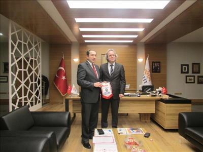 Kaçakçılık ve Organize Suçlarla Mücadele Şube Müdürü Ahmet ORUÇ' tan Rektörümüze Ziyaret