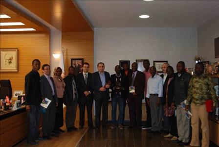 Gine'li Doktorlardan Rektörümüze Nezaket Ziyareti