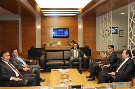 Ak Parti İl Başkanı Ahmet Sami CEYLAN Rektörümüze Ziyarette Bulundu